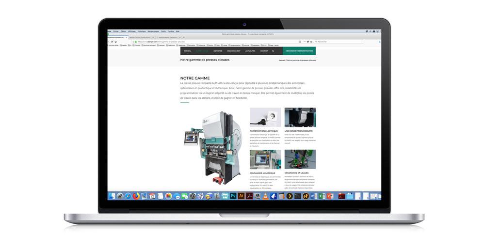 Presse plieuse compacte ALPHAPLI : lancement de notre nouveau site internet